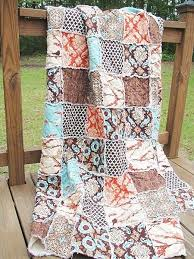 Best 25+ King quilts ideas on Pinterest | Quilt patterns, King ... & King Rag Quilt, AVIARY 2 in bark, brown aqua orange birds, ALL NATURAL ·  Queen Size ... Adamdwight.com