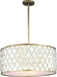 drum shade pendant chandelier pendant drum shade four light golden silver drum shade crystal chandelier silver
