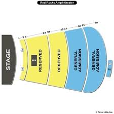 Red Rocks Amphitheatre Seating Chart All Reserved Red Rocks Amphitheatre Seating Chart Red Rocks Seating Capacity