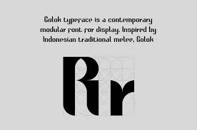 英文字体golok Free Font免费下载 Nicepsd 优质设计素材下载站