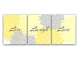 canvas and prints home decor wall art live laugh love yellow pretty grey positive awesome yellow and grey wall decor on black grey and yellow wall art with canvas and prints home decor wall art live laugh love yellow pretty