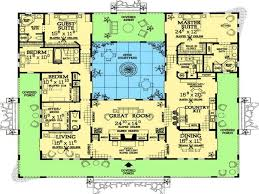 floor plan u shaped house plans with pool in the middle courtyard lovely home