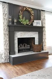 gray fireplace mantle