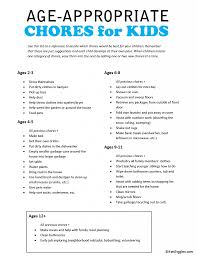 Age Appropriate Chores For Kids With Free Printable Kid