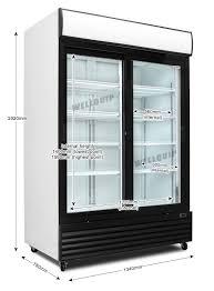 vertical sliding door cooling showcase fridge lg1400sds