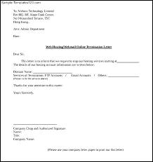 termination letter template termination letter sample noshot info