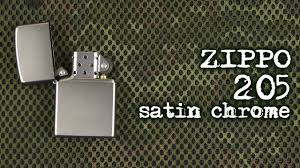 Демонстрация <b>Zippo</b> 205 <b>Satin Chrome</b> - YouTube