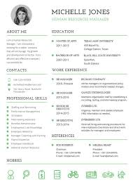 Free Printable Resumes Templates