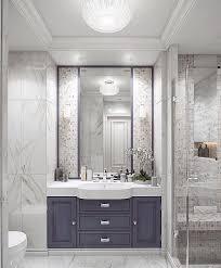 Ванная комната с плиткой под <b>мрамор</b> и <b>мозаикой</b>. (с ...