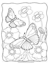 Coloring is a very useful hobby for kids. Butterfly Coloring Pages Free Printable From Cute To Realistic Butterflies Easy Peasy And Fun