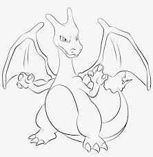 The color is a characteristic that can be easily recognized by sight, however, each pokémon's color was made official with pokémon ruby and sapphire, where, in the pokédex, it is possible to arrange pokémon by this distinction. Charizard Lineart By Lilly On Deviantart Pokemon Coloring Pages Charizard Small Png Image Transparent Png Free Download On Seekpng