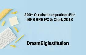 quadratic equation problems for bank po now