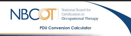 Nbcot Ceu Chart Nbcot Calculator Ceus To Pdus 36 Professional Development
