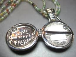 it seems that all intentions to contribute big or small have an impact those areas of impact connect to form the earth s community the earth locket