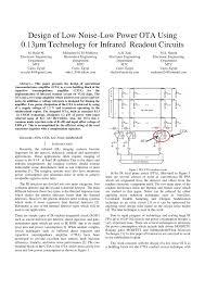 Ota Circuit Design Pdf Design Of Low Noise Low Power Ota Using 0 13 M