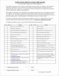 Employee Orientation Template Orientation Checklist Template Best New Employee Orientation