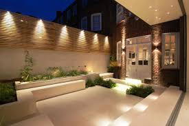 Outdoor Lighting Ideas Minimalist Garden Lighting Ideas Small Courtyard Gardens