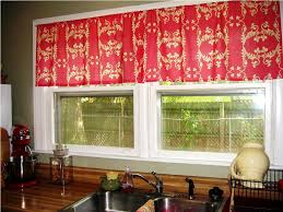 Red Kitchen Curtain Sets Kitchen Awesome Kitchen Curtains Valances Swags With Black White