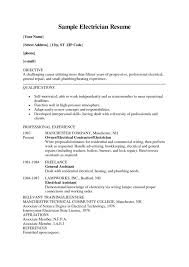 Example Electrician Resume Awesome Electrician Resume Format Download Gulijobs