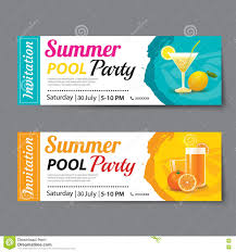 summer pool party ticket template stock vector image  summer pool party ticket template royalty stock images
