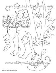 Small Picture 12 Images of Google Christmas Coloring Pages Owl Christmas Owls