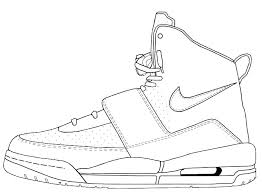 Jordan Shoes Coloring Sheets Shoes Coloring Pages Printable Online
