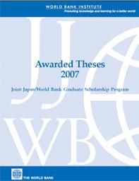 world bank scholarships program awarded theses