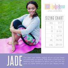 Size Chart For Lularoe Irma Lularoe Jade Sizing Chart Size Up One For A Looser Fit