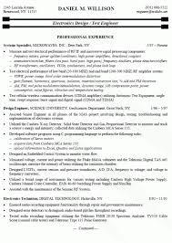 Sample Resume For Electronics Technician Resume Template Electronics Resume Sample Diacoblog Com