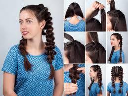 Copánky Jednoduchý účes Pro Dlouhé Vlasy Kurz Stock Fotografie