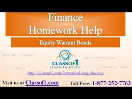equity warrant bonds finance homework help by classof com