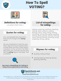 How To Spell Voting And How To Misspell It Too Spellchecknet
