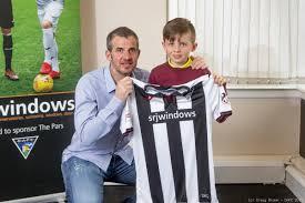 Backroom Team Member Player Sponsorship At East End Park Dunfermline Athletic
