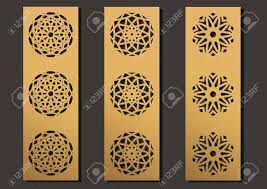 Design For Laser Engraving Laser Engraving Panels Set Contemporary Partition Geometric