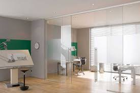 automatic doors glass office divider