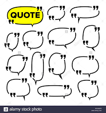 Quote Frame Set Vector Citation Blank Template Print Information