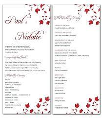 Wedding Programs Template Free Wedding Program Template Diy Free Ericremboldt Com