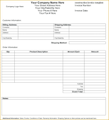 Construction Invoice Template Impressive Expenses Invoice Template Expense Invoice Template Travel Expense