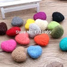 felt ball rug diy free wool 3 pieces handmade love heart doll wool felt ball