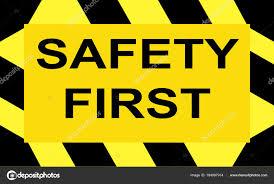 Black And Yellow Stripes Border Sign Write Safety First Yellow Background Black Yellow Striped