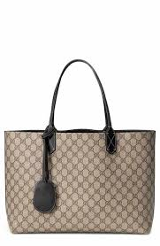 gucci tote. gucci medium turnaround reversible leather tote