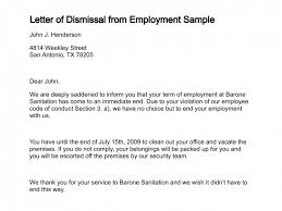12 Sample Letters Of Dismissal Writing Letters Formats
