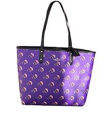 Coach Reversible City Tote in Bramble Rose Floral and Black -  F55866