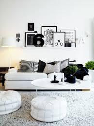 Wohnzimmer Farben Schwarz Weiß Wanddeko Dekokissen Sitzkissen Pictures