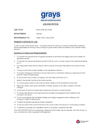 Job Description Of A Line Cook For Resume Line Cook Resume Examples