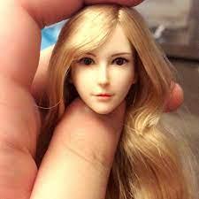 """Mã TOYDEC hoàn 20K xu đơn 50K] Mô hình đầu búp bê tóc vàng 12 """" tỉ lệ 1 / 6  tiện dụng chính hãng"""