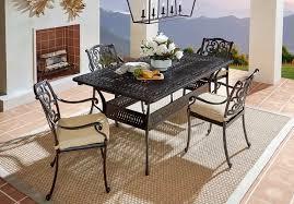 black wrought iron outdoor patio furniture