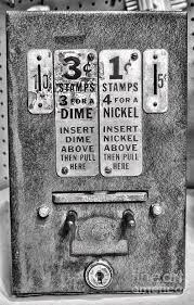 Old Stamp Vending Machine Best Vintage Stamp Vending Machine In Black And White Photograph By Paul Ward