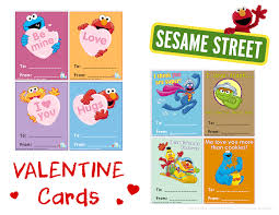 It's valentine's day on sesame street! Sesame Street Valentines Cards L Kidspartyworks Com Valentines Cards Valentine S Cards For Kids Valentines Printables