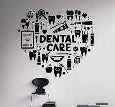 dental care wall decal dentist medical vinyl sticker home decor ideas bathroom interior removable wall art 9 dtl amazon  on wall art dental office with dental care wall decal dentist medical vinyl sticker home decor